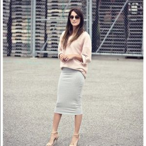 American Apparel  Grey Pencil Skirt SZ S NWT